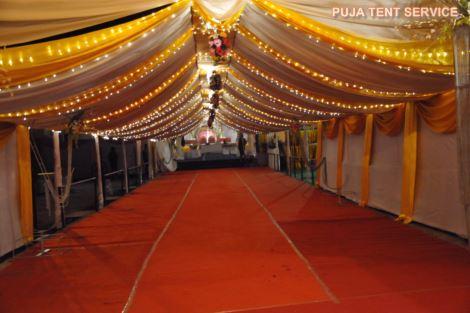 Puja tent service caterer doranda ranchi 9835167469 waterproof pandal junglespirit Gallery